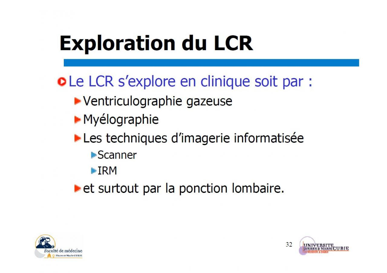 Exploration du LCR