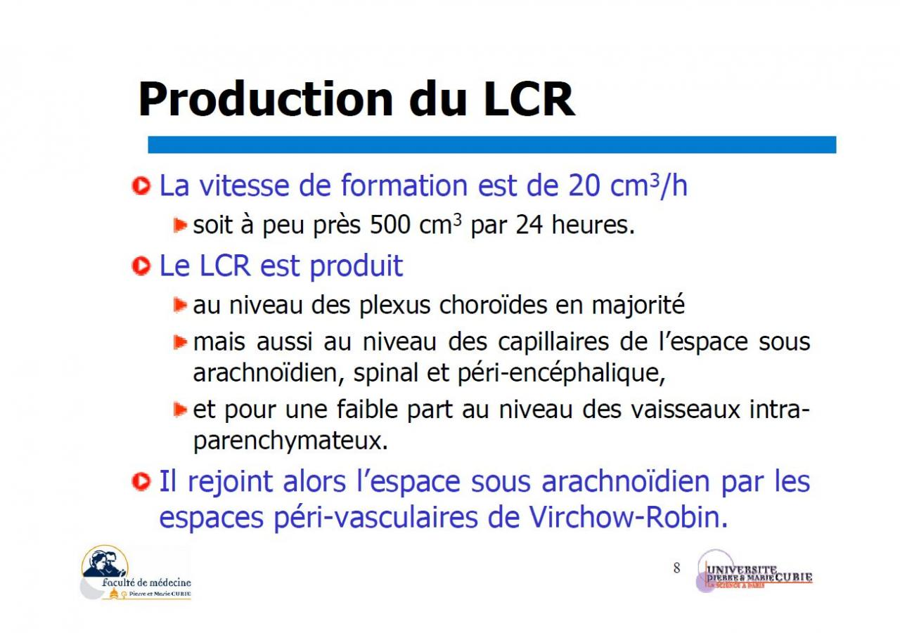 Production du LCR