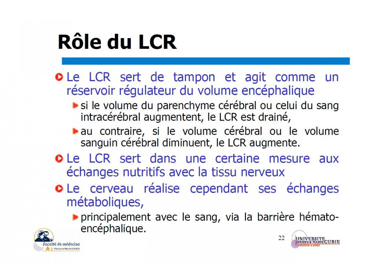 Rôle du LCR